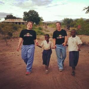 Enjoying time with children in Moshi, Tanzania.