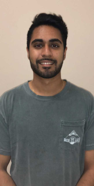 Vineet Madishetty, 4th-year Microbiology major.